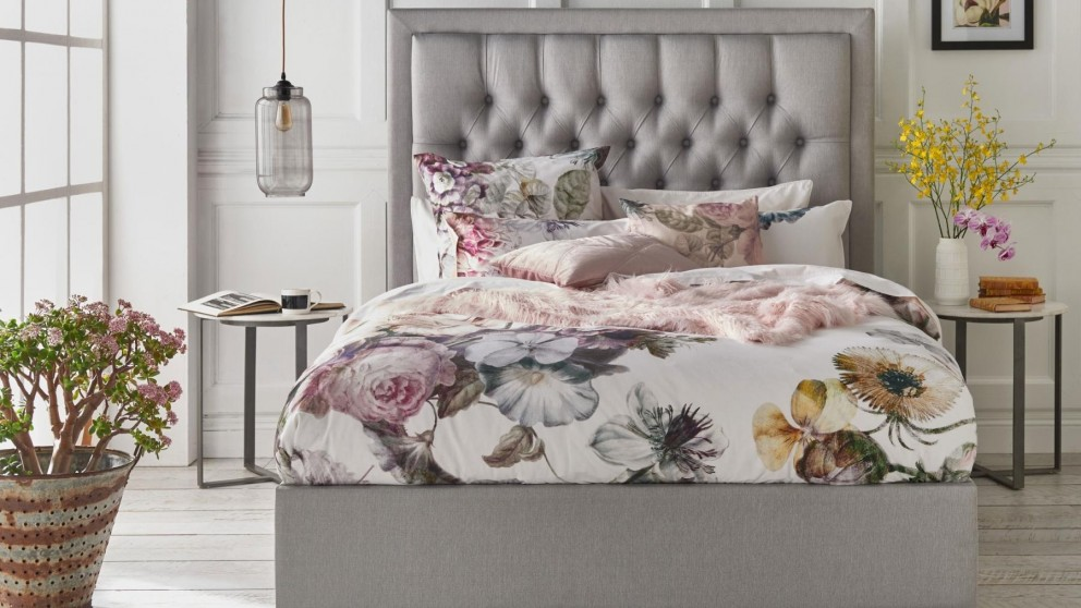 Ellaria rose quilt cover set quilt covers bed linen beds manchester harvey norman Home furniture packages australia