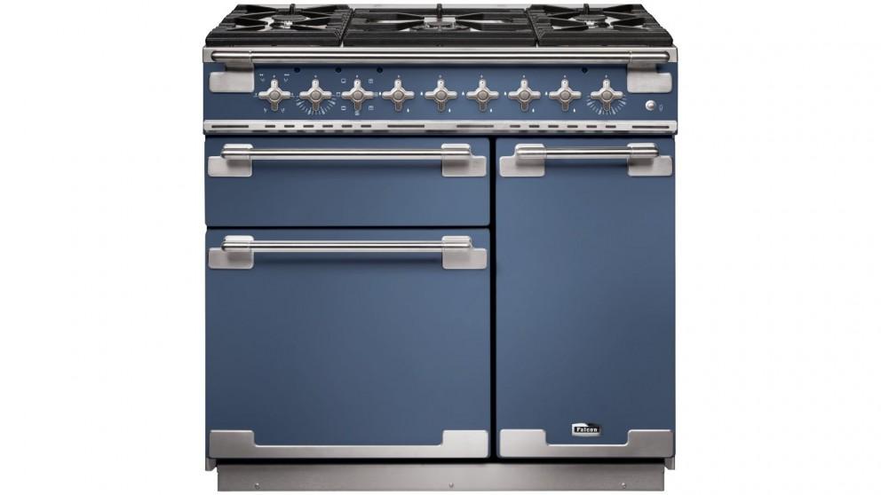 Falcon Elise 900mm Dual Fuel Freestanding Cooker - Stone Blue