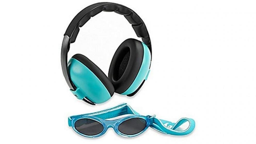 Banz Carewear Sun/Ear Protection Baby Combo - Lagoon Blue
