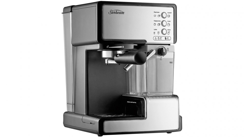 buy sunbeam cafe barista coffee machine harvey norman au. Black Bedroom Furniture Sets. Home Design Ideas