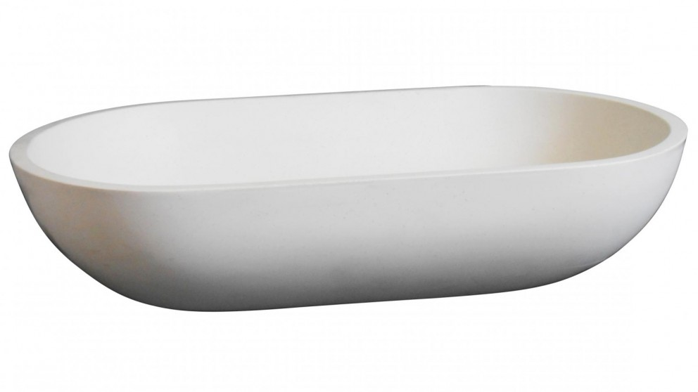 Ledin Emilio Solid Surface Basin - Snow