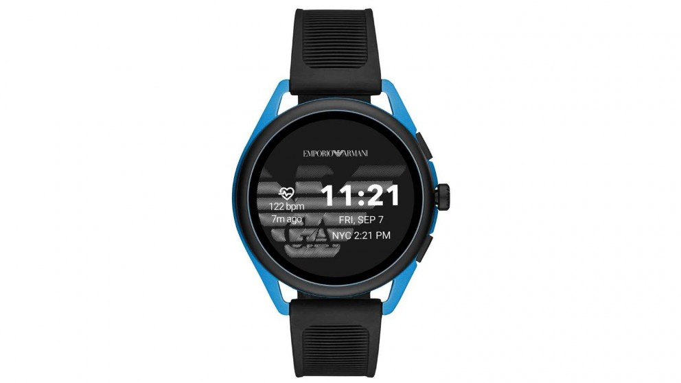 Emporio Armani Connected Matteo Mens Smart Watch - Blue