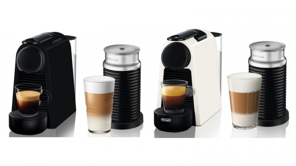 Nespresso Essenza Mini Coffee Machine with Milk Frother by DeLonghi