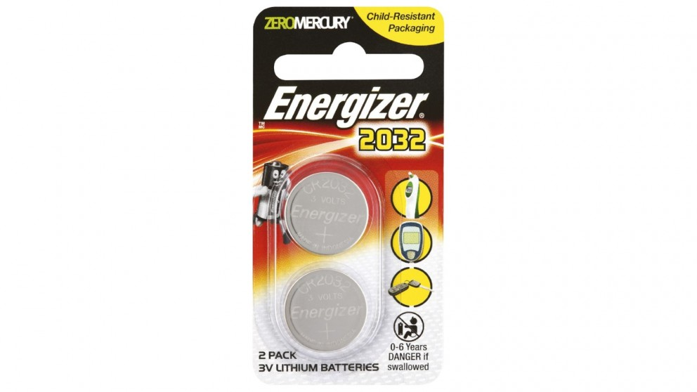 Energizer Lithium Coin 2032 Batteries - 2 Pack