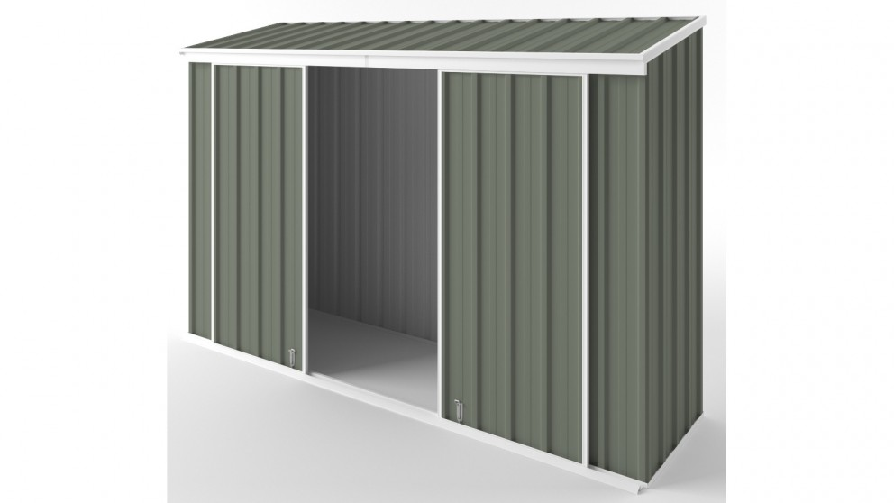 EasyShed D3008 Narrow Slider Garden Shed - Mist Green