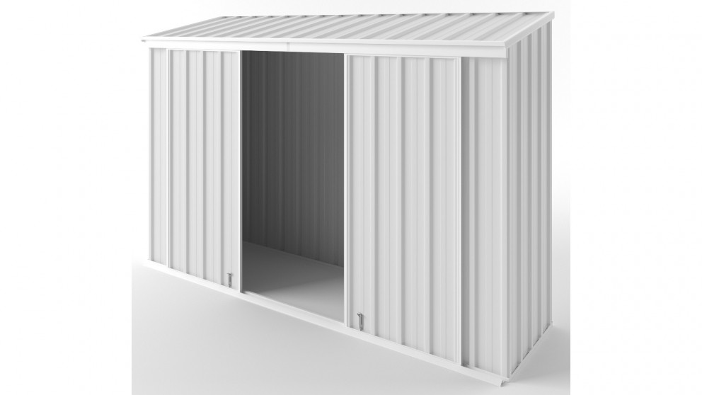 EasyShed D3008 Narrow Slider Garden Shed - Off White