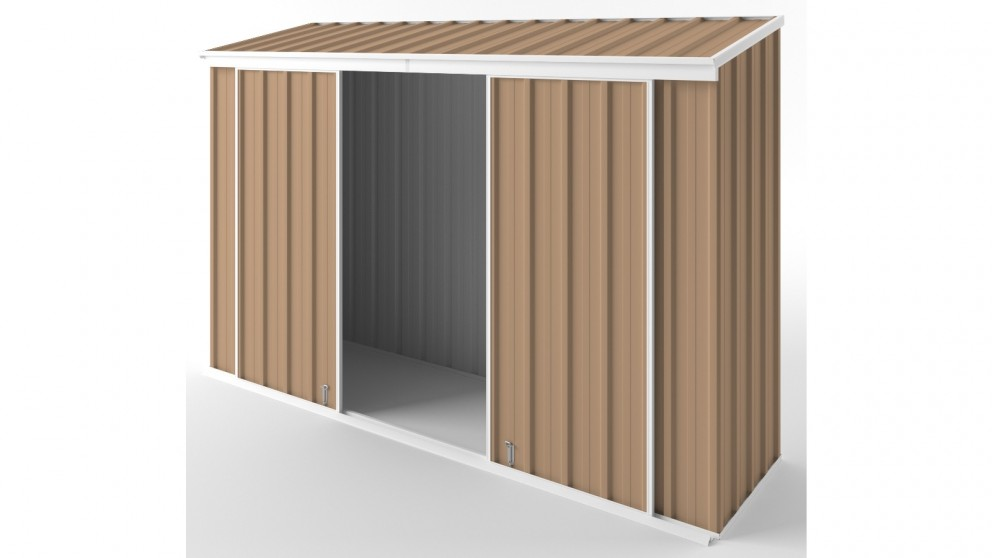 EasyShed D3008 Narrow Slider Garden Shed - Pale Terracotta