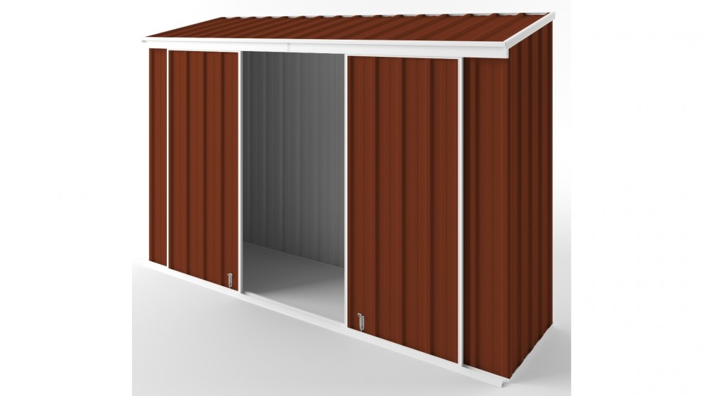 EasyShed D3008 Narrow Slider Garden Shed - Tuscan Red