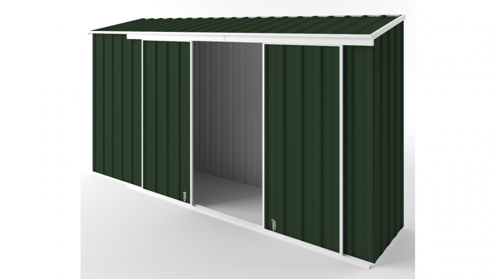 EasyShed D3808 Narrow Slider Garden Shed - Caulfield Green