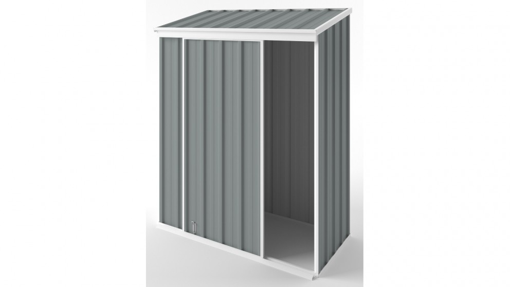 EasyShed S1508 Narrow Slider Garden Shed - Armour Grey