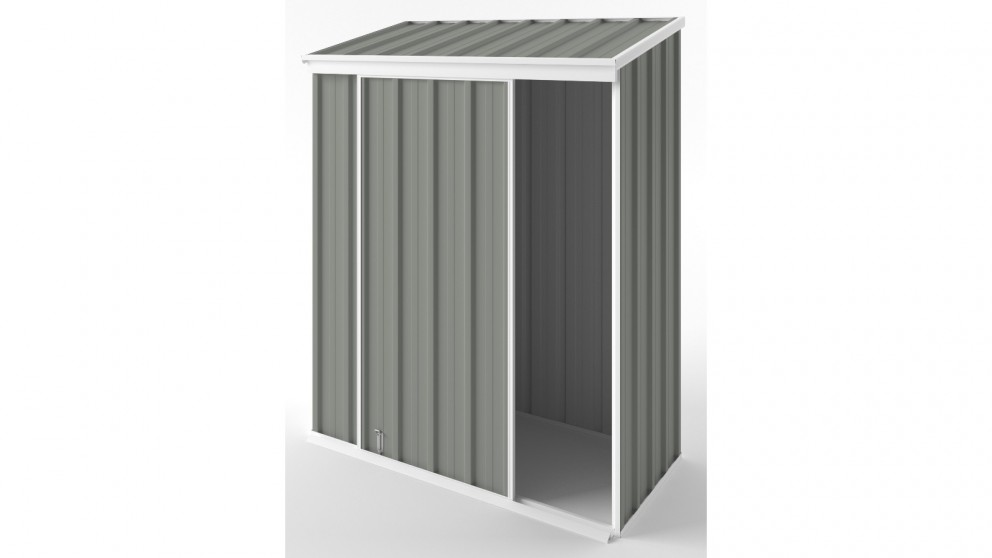 EasyShed S1508 Narrow Slider Garden Shed - Bush Smoke