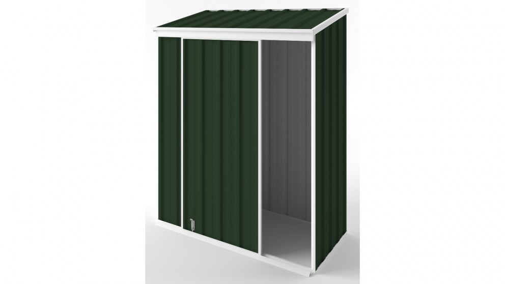 EasyShed S1508 Narrow Slider Garden Shed - Caulfield Green