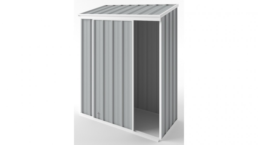 EasyShed S1508 Narrow Slider Garden Shed - Gull Grey