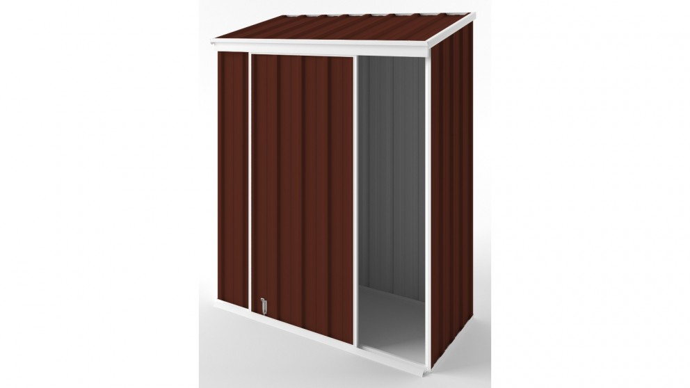EasyShed S1508 Narrow Slider Garden Shed - Heritage Red
