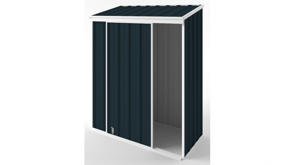 EasyShed S1508 Narrow Slider Garden Shed - Mountain Blue