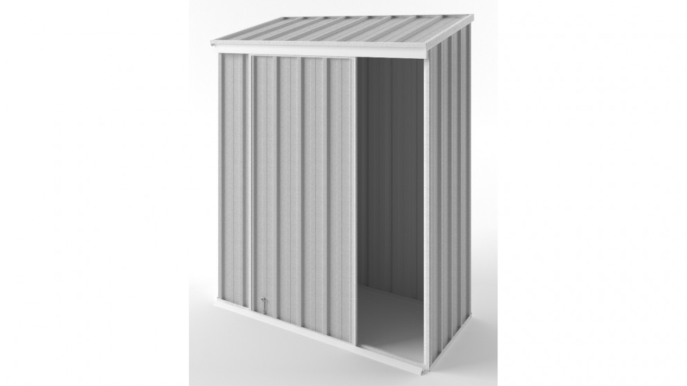 EasyShed S1508 Narrow Slider Garden Shed - Zincalume