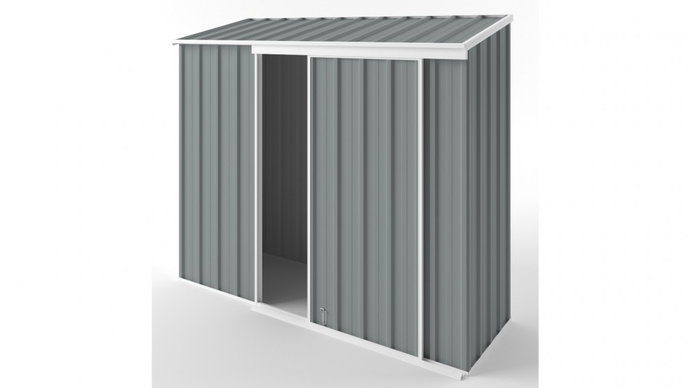 EasyShed S2308 Narrow Slider Garden Shed - Armour Grey