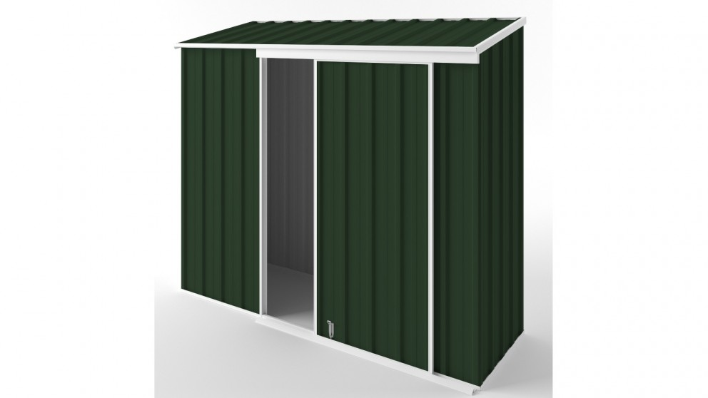 EasyShed S2308 Narrow Slider Garden Shed - Caulfield Green