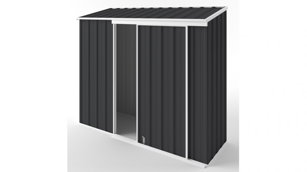 EasyShed S2308 Narrow Slider Garden Shed - Iron Grey