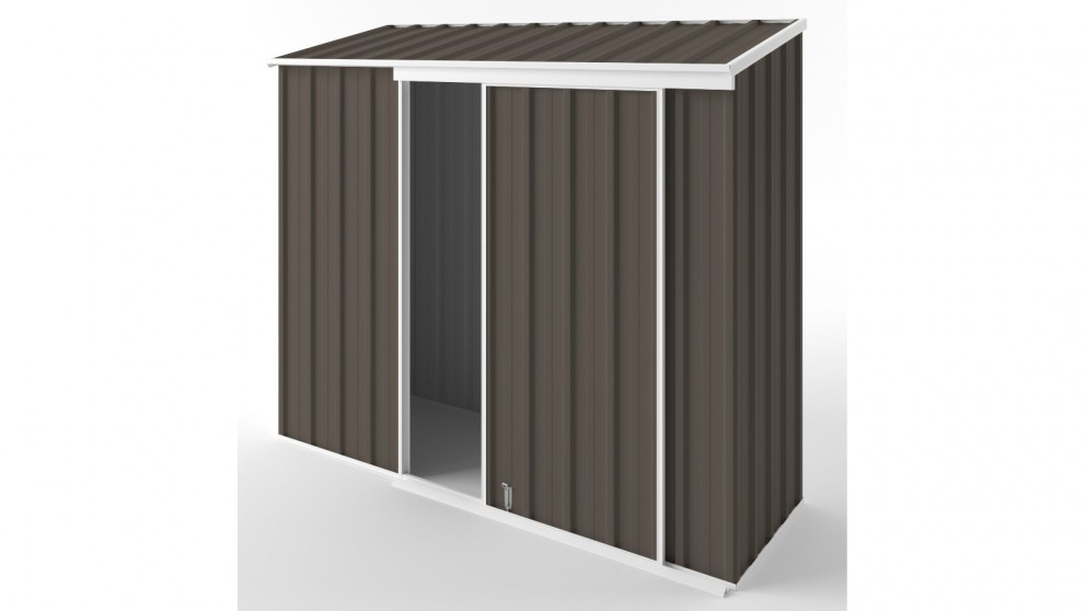 EasyShed S2308 Narrow Slider Garden Shed - Jasmine Brown