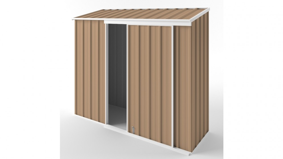 EasyShed S2308 Narrow Slider Garden Shed - Pale Terracotta