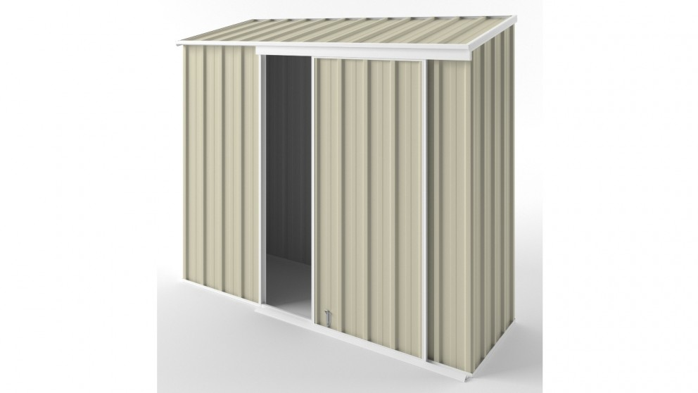 EasyShed S2308 Narrow Slider Garden Shed - Smooth Cream