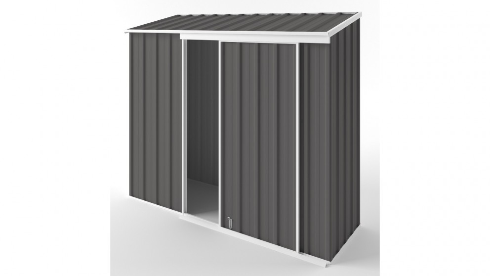 EasyShed S2308 Narrow Slider Garden Shed - Slate Grey