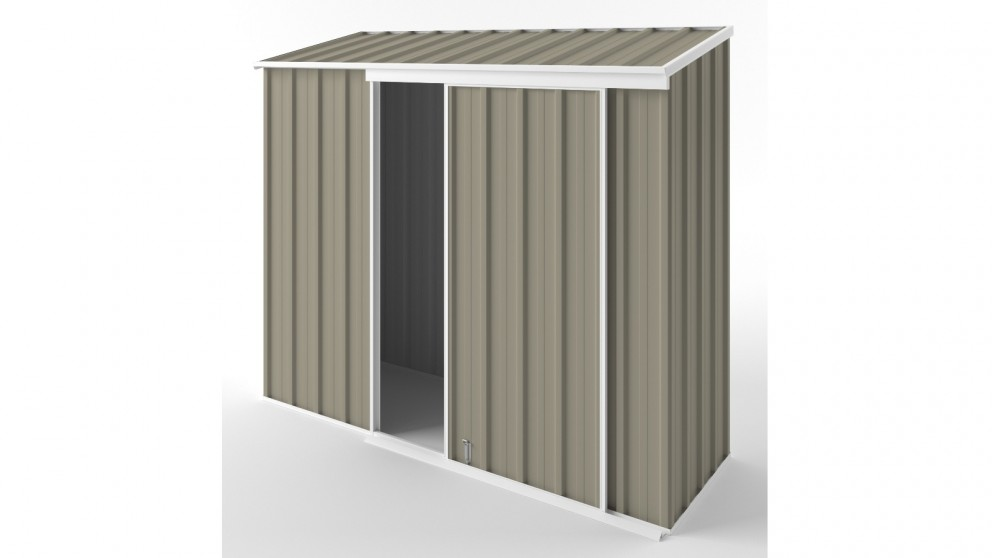 EasyShed S2308 Narrow Slider Garden Shed - Stone