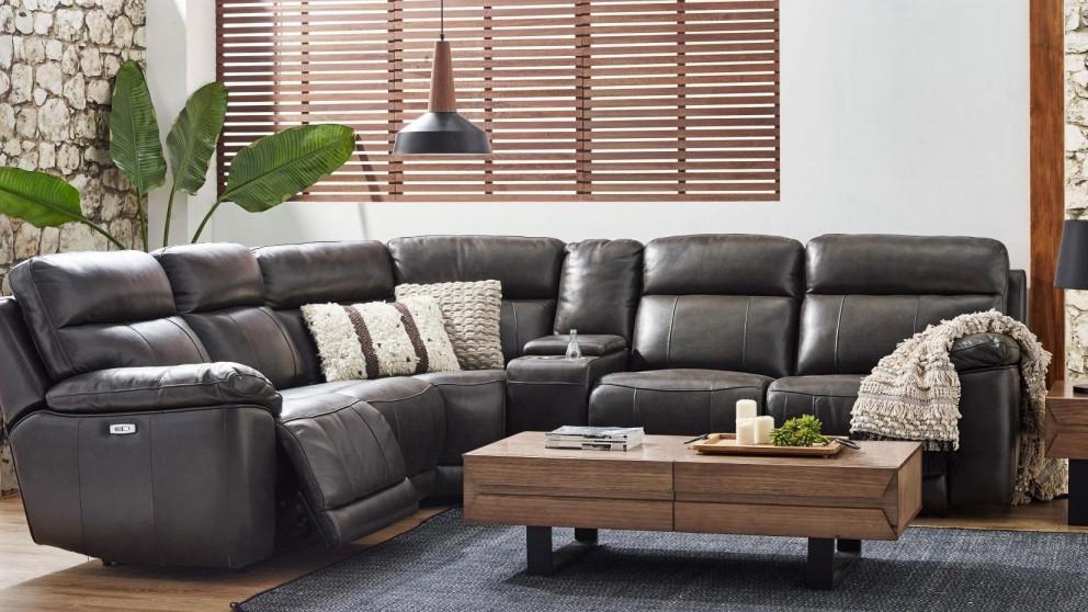 Enterprise Powered Leather Recliner Modular Sofa