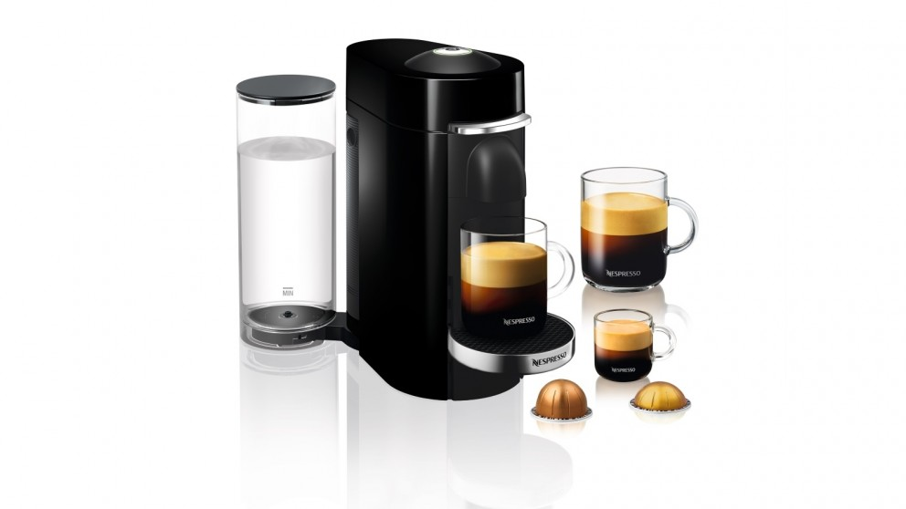 buy delonghi nespresso vertuo plus coffee machine black harvey norman au. Black Bedroom Furniture Sets. Home Design Ideas