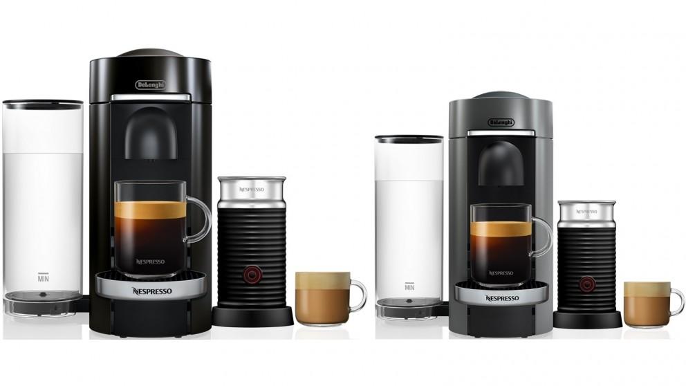 DeLonghi Nespresso VertuoPlus Bundle with Aeroccino3 Milk Frother