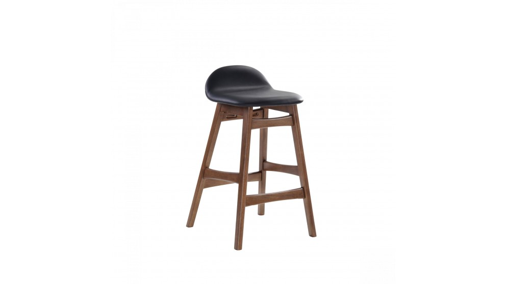 Enzo Barstool Walnut Leg - Black
