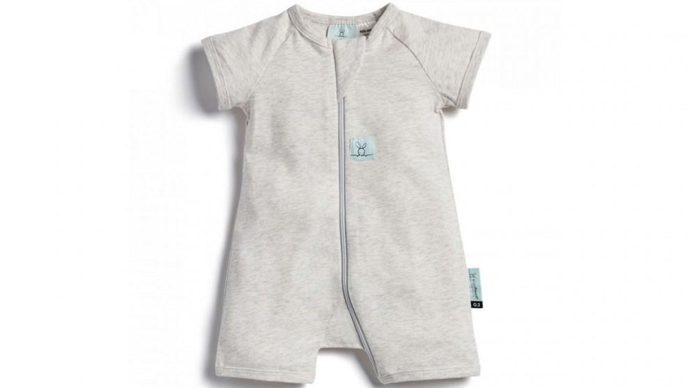 Ergo Pouch 0.2 TOG 0-3 Months Layer Short Sleeve Sleepwear - Grey Marle