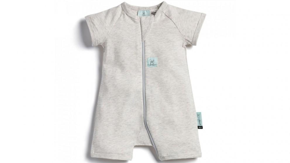 Ergo Pouch 0.2 TOG 6-12 Months Layer Short Sleeve Sleepwear - Grey Marle