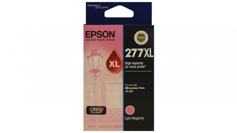 Epson 277XL High Capacity Claria Photo HD Ink Cartridge - Light Magenta