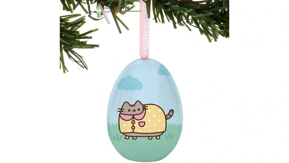 Pusheen Tin Egg Ornament - Rainy Day