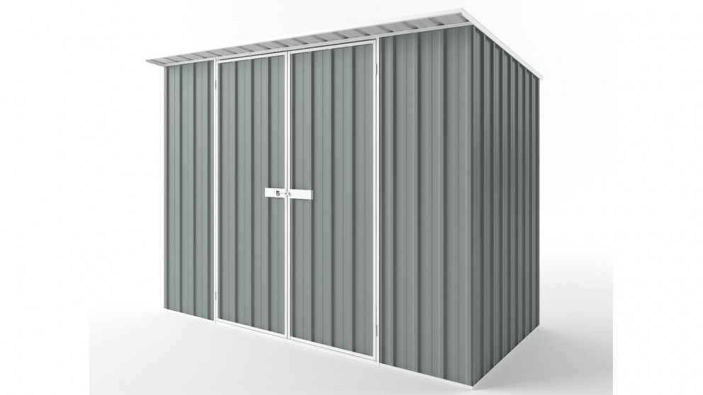EasyShed D3015 Skillion Roof Garden Shed - Armour Grey