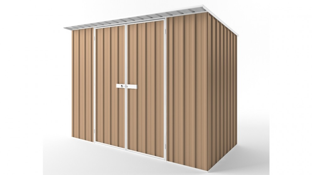 EasyShed D3015 Skillion Roof Garden Shed - Pale Terracotta