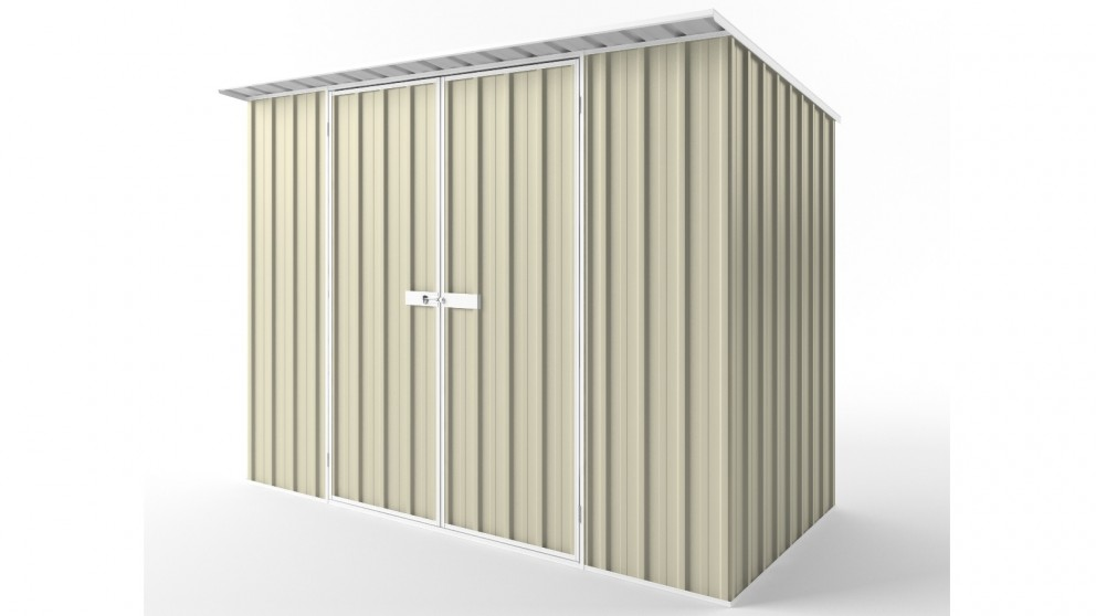 EasyShed D3015 Skillion Roof Garden Shed - Smooth Cream