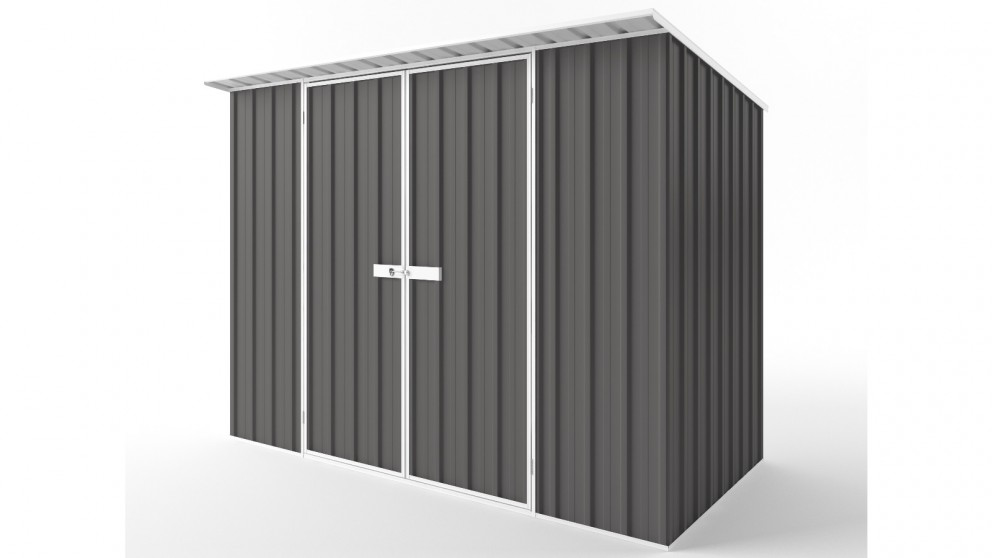 EasyShed D3015 Skillion Roof Garden Shed - Slate Grey