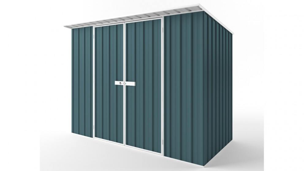 EasyShed D3015 Skillion Roof Garden Shed - Torres Blue