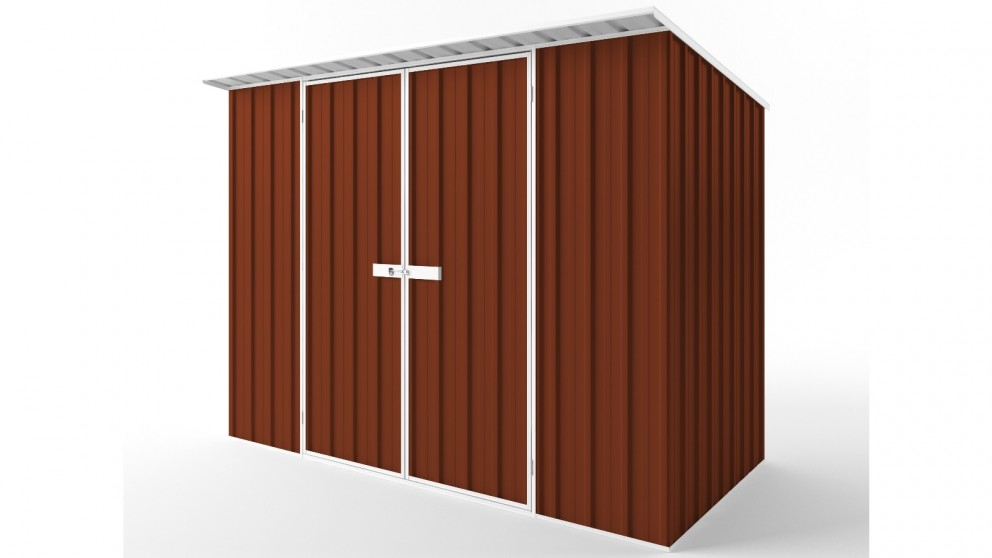 EasyShed D3015 Skillion Roof Garden Shed - Tuscan Red