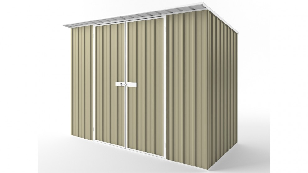EasyShed D3015 Skillion Roof Garden Shed - Wheat