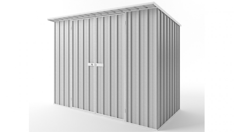 EasyShed D3015 Skillion Roof Garden Shed - Zincalume