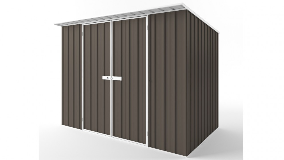 EasyShed D3019 Skillion Roof Garden Shed - Jasmine Brown
