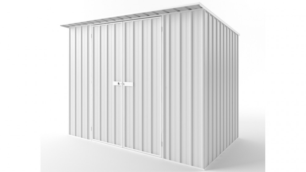 EasyShed D3019 Skillion Roof Garden Shed - Off White