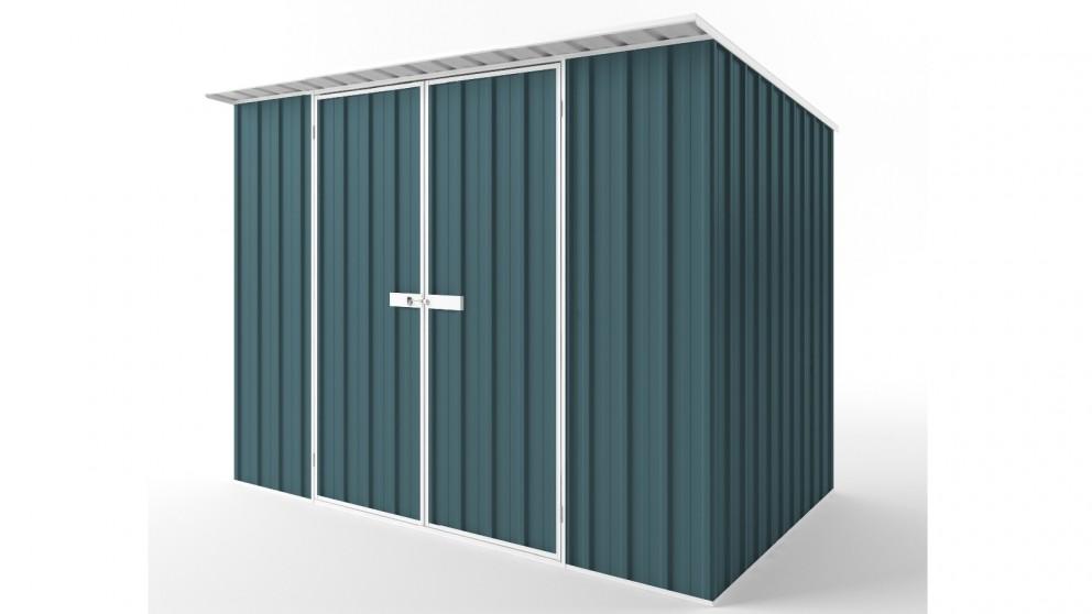 EasyShed D3019 Skillion Roof Garden Shed - Torres Blue