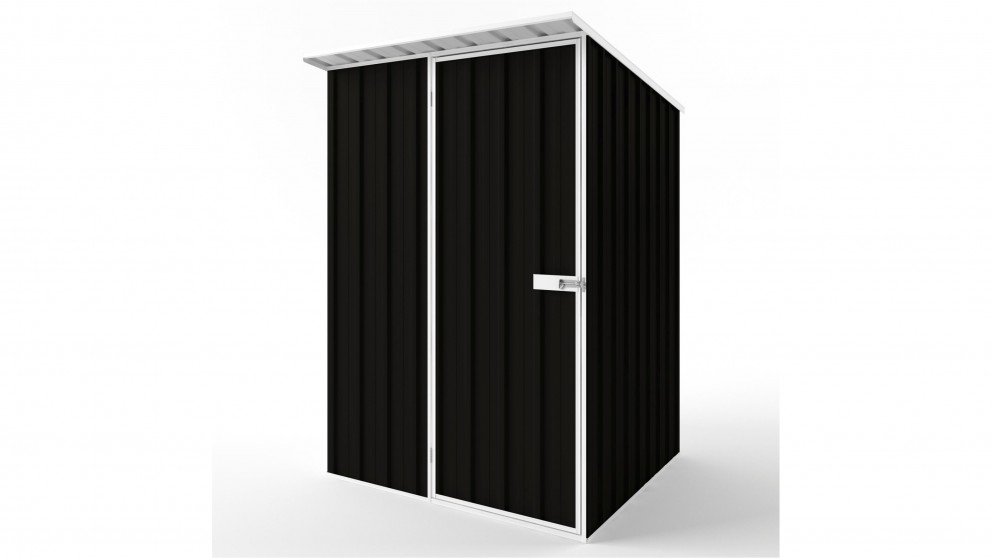 EasyShed S1515 Skillion Roof Garden Shed - Ebony