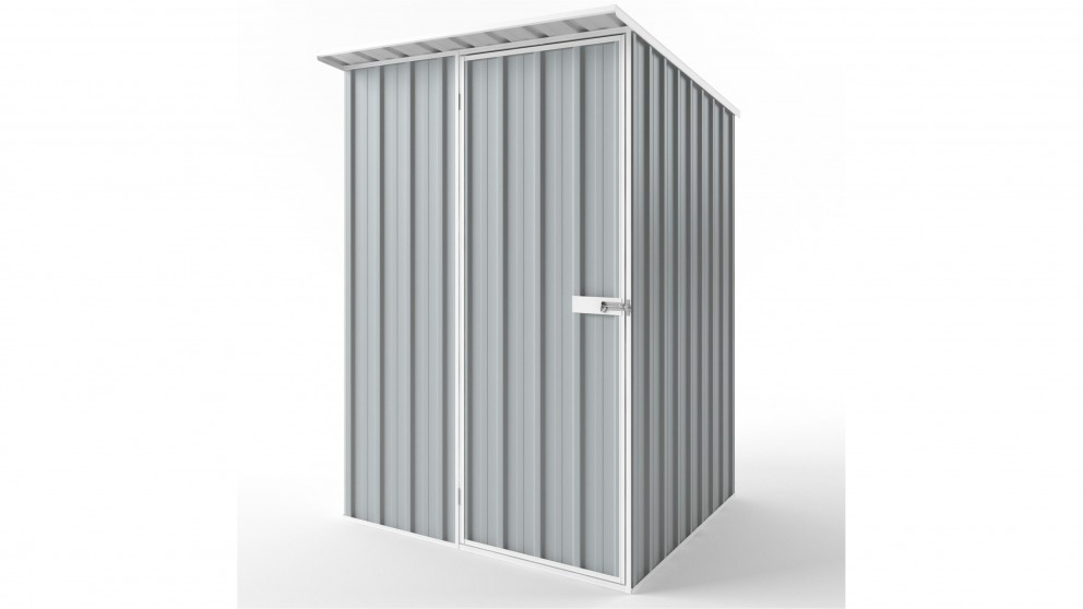 EasyShed S1515 Skillion Roof Garden Shed - Gull Grey