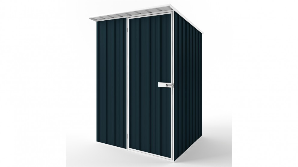 EasyShed S1515 Skillion Roof Garden Shed - Mountain Blue